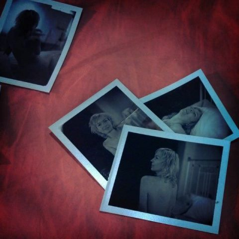 Employer Quncy hired Casey to pose for an Erotic Photo Shoot. As a stipulation of the project was that no recordings could be made at the work site and distributed elsewhere, Quncy used a polaroid camera and left the images with the artist.